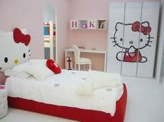 chambre coucher en rose hello kitty - Hello Kitty Chambre Bebe