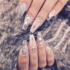 70 Top Bridal Nails Art Designs for next year 70 Top Bridal Nails Art Designs for next year Fabulous Nails, Gorgeous Nails, Pretty Nails, Clear Nail Designs, Nail Art Designs, Nails Design, Clear Nails With Design, Acrylic Nails With Design, Diamond Nail Designs