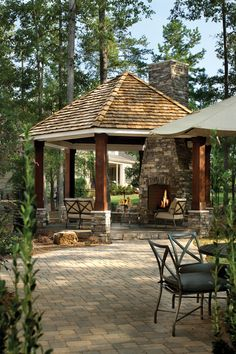 Bright propane space heaterin Patio Traditional with Magnificent Gazebo Roof next to Killer Cabana alongside Prepossessing Screened Gazebo and Foxy Roof Design Credit to Peter A Sellar - Architectural Photographer Outdoor Rooms, Outdoor Living, Outdoor Decor, Backyard Patio, Backyard Landscaping, Patio Roof, Backyard Ideas, Porches, Arthur Rutenberg Homes