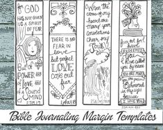 Bible Journaling Black And White PDF Sketches More Information Printable Coloring Margin By DigiScrapDelights