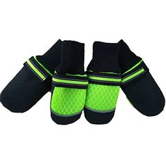 Lorises Dog Boots Shoes Pet Mesh Sneaker Anti-Slip Paw Protector with Reflective Adjustable Velcro Straps for Medium and Large Dog *** For more information, visit image link. (This is an affiliate link) #Dogs