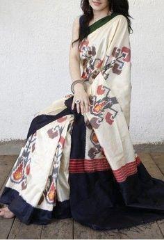 Remarkable White and Black Color Linen Designer Digital Print Saree Soft Silk Sarees, Cotton Saree, Indian Beauty Saree, Indian Sarees, Indian Fashion Trends, Ethnic Fashion, Casual Saree, Saree Look, Elegant Saree