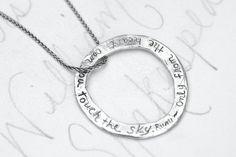 Rumi Zitat Kreis Halskette. Böhmische Ewigkeit von peacesofindigo