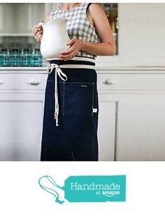 Kitchen Apron || Navy Blue from Celina Mancurti http://www.amazon.com/dp/B017J4ILU0/ref=hnd_sw_r_pi_dp_32.owb1VA8KYD #handmadeatamazon