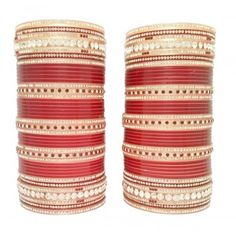 Beautiful Punjabi Bridal Chura Simple as well as Sober, For more designs visit our website www.indianbridalhome.com