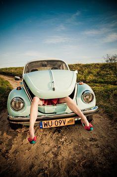 "/ Photo ""Beetle"" by Wojtek Biały Bus Girl, Vw Vintage, Vw Cars, Vw T1, Car Girls, Vw Beetles, Photo Instagram, Fast Cars, Cars And Motorcycles"