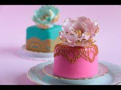 How To Make Mini Fondant Cakes - YouTube