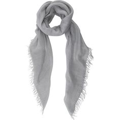 Faliero Sarti Women's Lurex Scarf (235 CAD) ❤ liked on Polyvore featuring accessories, scarves, schal, grey, grey scarves, faliero sarti, gray shawl, gray scarves and grey shawl