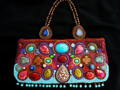 First beaded handbag I made! www.fariasiddiqui.com