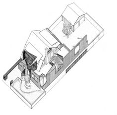 Frank Gehry, Gehry Residence, Santa Monica, California, 1978. Axonometric © Gehry Partners LLP