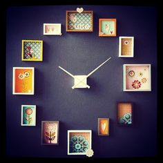 Do You Want to make large wall clock with photos? Then check out these designs and ideas for a perfect DIY wall clock with photos or postcards!