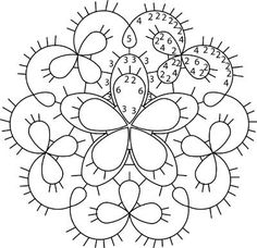 Tatted Flower Medallion chart (will have to print the diagram because the link is no longer valid)