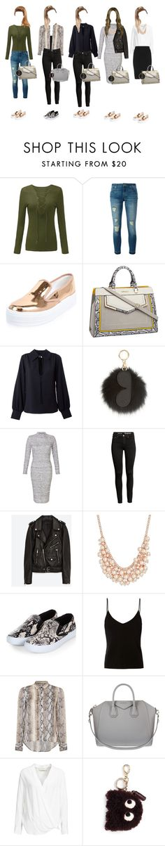 """My past week's school outfits (#2)"" by zalarupar ❤ liked on Polyvore featuring MICHAEL Michael Kors, River Island, See by Chloé, Jakke, Charter Club, T By Alexander Wang, Salsa, Givenchy, By Malene Birger and Anya Hindmarch"