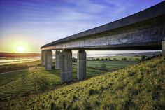 The Orwell Bridge at sunrise with those BIG Suffolk skies. iso Lightroom CC and Macphun Intensify Pro. Hdr Photography, Lightroom, Gazebo, Sunrise, Bridge, Outdoor Structures, Sky, Plants, David