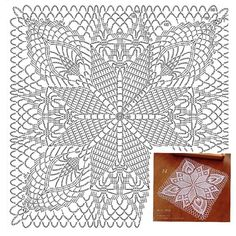 Transcendent Crochet a Solid Granny Square Ideas. Inconceivable Crochet a Solid Granny Square Ideas. Crochet Tablecloth Pattern, Crochet Doily Diagram, Crochet Square Patterns, Crochet Cushions, Crochet Doily Patterns, Crochet Chart, Crochet Squares, Thread Crochet, Crochet Granny