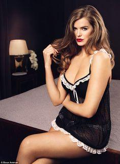 Robyn Lawley model's Boux Avenue AW12 Curves Collection