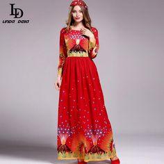 Women Long Sleeve Maxi Dress Beading Noble Formal Party Dress WOW www.storeglum.com... #shop #beauty #Woman's fashion #Products