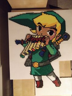 Legend of Zelda - Link Spirit Tracks Perler Fuse Beads by on deviantART Perler Bead Templates, Pearler Bead Patterns, Perler Patterns, Pearler Beads, The Legend Of Zelda, Fusion Beads, Iron Beads, Melting Beads, Perler Bead Art