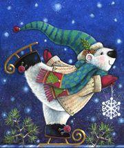 Christmas art, snowman art by renowned painter Janet Stever.