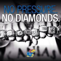 No Pressure No Diamonds Kansas Jayhawks Basketball, Kansas Basketball, Basketball History, Basketball Photos, Basketball Teams, University Of Kansas, Kansas City, Bill Self, Chiefs Game