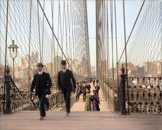 Brooklyn Bridge, New York City, ca. 1910 Brooklyn Bridge, New York, N. between 1905 and Old Pictures, Old Photos, Vintage Photos, Vintage New York, Toile New York, Photographie New York, New York City, Brooklyn Bridge New York, Brooklyn Bar