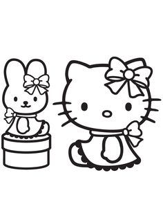 Pretty Hello Kitty Sitting Coloring Pages Printable And Book To Print For Free Find More Online Kids Adults Of