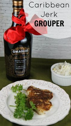 Caribbean Jerk Grouper Recipe with OMAGGIO Limited Reserve Extra Virgin Olive Oil