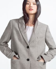 MASCULINE COAT-View all-OUTERWEAR-Woman-COLLECTION SS16 | ZARA Romania