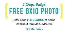 FREE 8×10 Walgreens Photo Print for Easter