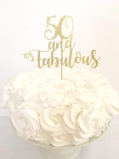 25 and Fabulous Cake Topper Age Fabulous Topper Customized