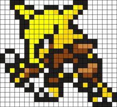 Alakazam Pokemon Bead Pattern Perler Bead Pattern / Bead Sprite