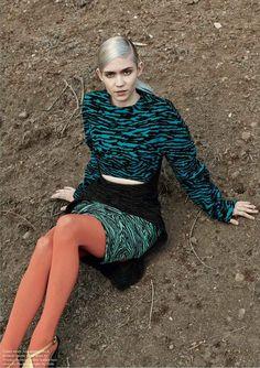 Grimes photoshoot for Pop magazine