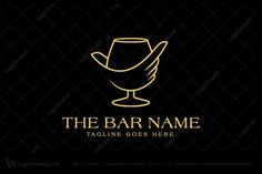 Logo for sale: The Bar logo; Unique liquor bar logo, a strong feeling of wanting to have a drink; Hard drink; Strong drink; Alcohol; Wine; Whiskey; Liqueur; Liquor store; Creative logo; Clever logo; Unique logo; Buy Purchase Sell on sale Sold Product Business Brand Design Graphic Recognized Professional Software Apps App Applications Application Established Stability B2B; Simple Modern Pre-Designed logo logos