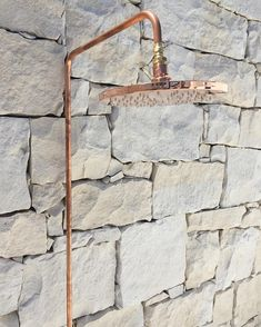 #SGOoutdoorshower in raw polished copper.. Designed by yours truly @mon_palmer & Australian made 👌🏻 www.sgoxblog.com #preorder #outdoors… 15mm Copper Pipe, Copper And Brass, Copper Pipes, Outside Showers, Outdoor Showers, Industrial Showers, Shower Rose, Brass Tap, Rose Stem
