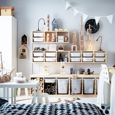 Room designed this to make it easy for kids to express themselves, and easy for them to pack away when they're done! - Kids Room Ideas