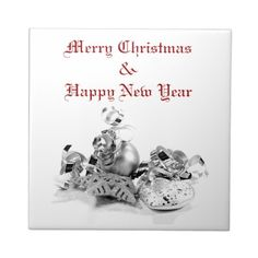 Silver Christmas Tile Template for you at www.zazzle.com/superdumb