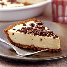 This Chocolate Chip Peanut Butter Pie #recipe features a decadent duo, chocolate and PB, that makes for a rich, satisfying dessert. #WWLoves