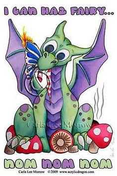 "Shop Cute Baby Dragon ""I Can haz Fairy "" Postcard created by LittleWingsDragons. Pet Dragon, Female Dragon, Baby Dragon, Dragon Art, Cartoon Dragon, Cartoon Art, Dragon Coloring Page, Coloring Pages, Dragons"
