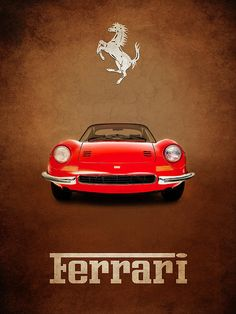 Ferrari Dino 246gt Print By Mark Rogan