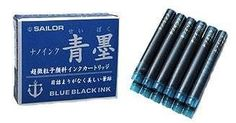 Sailor Sei Boku Fountain Pen Ink Cartridge Refills 12 Pack Blue-Black