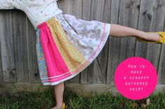 How to make a scrappy gathered skirt