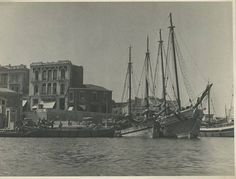 Heraklion , old port Heraklion, Old Port, Old Maps, Crete, Sailing Ships, Vintage Photos, New York Skyline, The Past, Boat