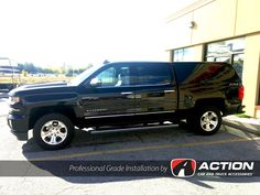 2016 Chevy Silverado with a Contour III cap. Installed by our store in London, ON! 2018 Silverado 1500, 2016 Chevy Silverado, Silverado Truck, Truck Caps, Black Edition, Contour, 4x4, Camper, Trucks