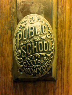NYC Public Schools vintage doorknob... they don't make stuff like this anymore.