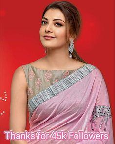 So simple . Saree Jacket Designs Latest, Saree Blouse Neck Designs, Boat Neck Saree Blouse, Saree Draping Styles, Saree Styles, Sari Bluse, Saree Jackets, Sari Design, Designer Blouse Patterns