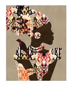 """""""Adaeze"""" African Art print by {COZAMIA}, african art, colorful art, abstract art,"""