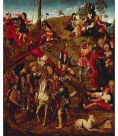 Kaartjes sturen Jacob Cornelisz. van Oostsanen, De kruisiging van Christus