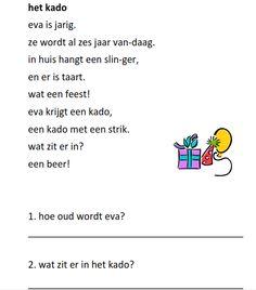 www.juf-lisanne.nl Begrijpend lezen opdracht groep 3 thema feest / thema…