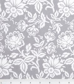 I have this for either window curtains or closet curtains (doors removed).  Keepsake Calico Fabric-Kimberly Small Floral Gray, , hi-res