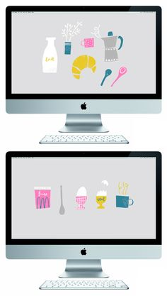 It's the last day of the month and I've just made it to you with October's free desktop wallpapers! These are all centred around my favourite meal of the day which is, breakfast of course. Free Desktop Wallpaper, Wallpaper Backgrounds, Baby Jogger, Everyday Objects, Recipe Of The Day, Working Area, Illustration, Blog, Mac